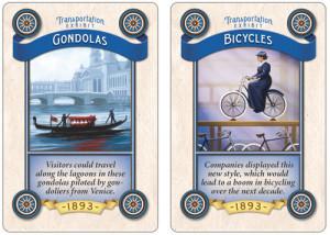 Worlds Fair transportation cards