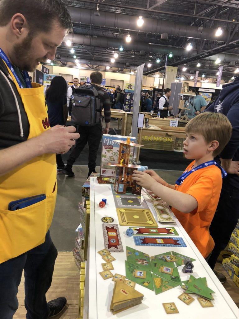 Playing at the HABA booth - PAX Unplugged 2019