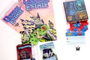 Unreal Estate with book and expansions, Pocket Ops with expansion
