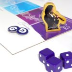 Kenny G figurine at the end of the game board