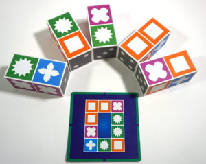 Match Madness blocks and card