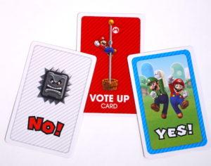Super Mario Level Up vote cards