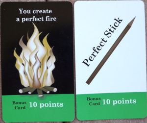 Perfect Fire: 10 points; Perfect Stick: 10 points