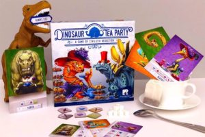 Dinosaur Tea Party: dinosaurs, teacup, board game