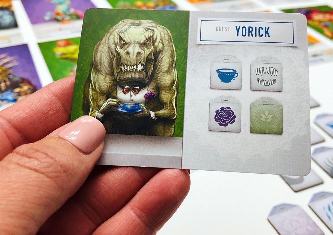 Dinosaur Tea Party card: Yorick
