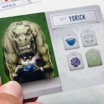 Dinosaur Tea Party card: Yorick